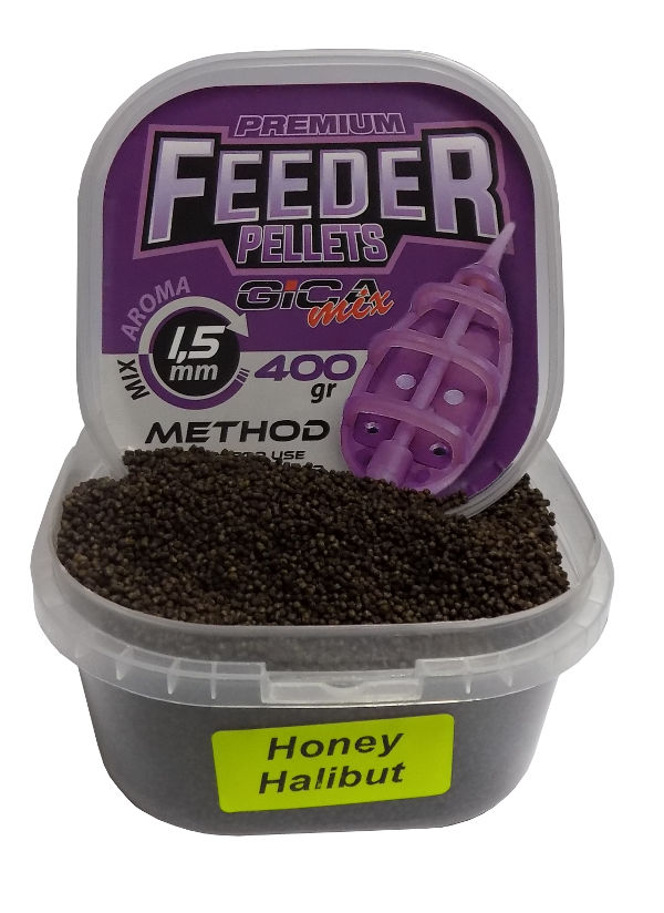 Gica Mix Premium Feeder Method Pellets 1.5mm-halibut/honey