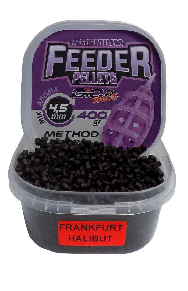 Gica Mix Premium Feeder Method Pellets 4.5mm-halibut/frankfurt-sausage