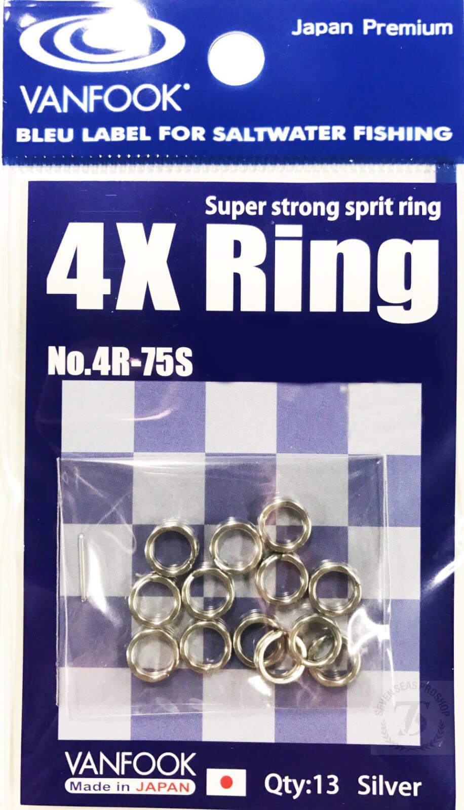 VANFOOK 4R-75S(4X Split Ring) Silver #7