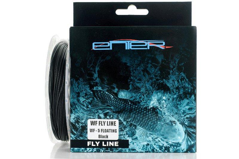Enter FLY LINE WF-5 FLOATING Black 100ft